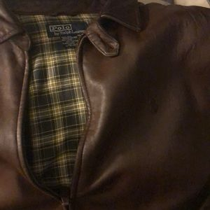 Polo brown leather jacket